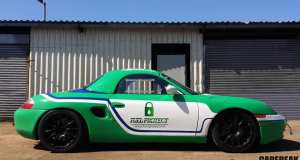 Porsche Boxster Racer with 'Fuel Protect' livery