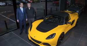L:R Lotus CEO Jean-Marc Gales and Hexagon chairman Paul Michaels