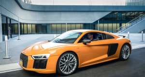 Robert Downey Jr In An Audi R8 V10 plus Coupe