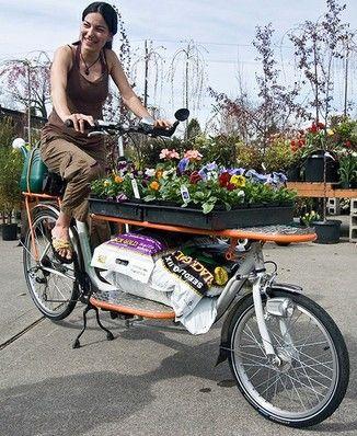 La vie sans voiture je travaille avec mon v lo for Fleuriste livreur