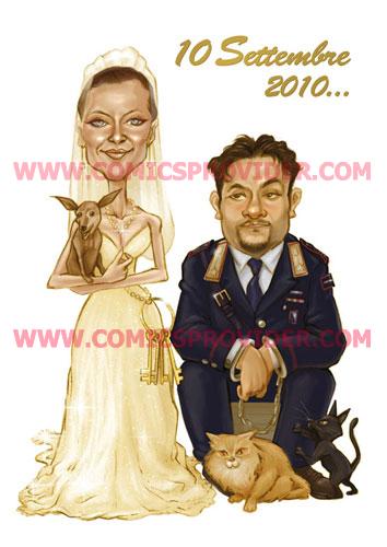Divertente partecipazione matrimoniale, dove lo sposo finisce in manette!