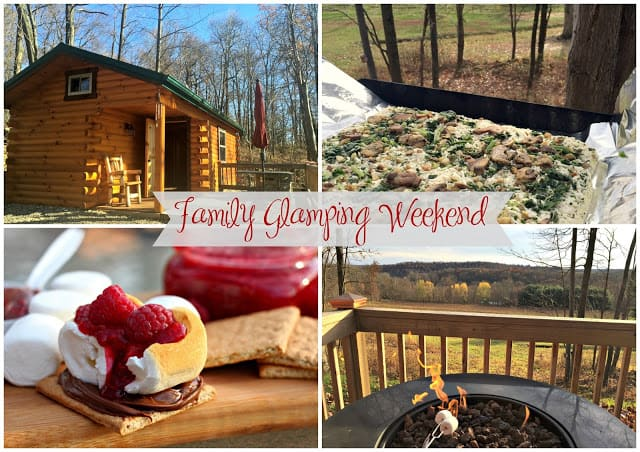 Family Glamping Weekend - Grilled Pizza and Raspberry S'mores