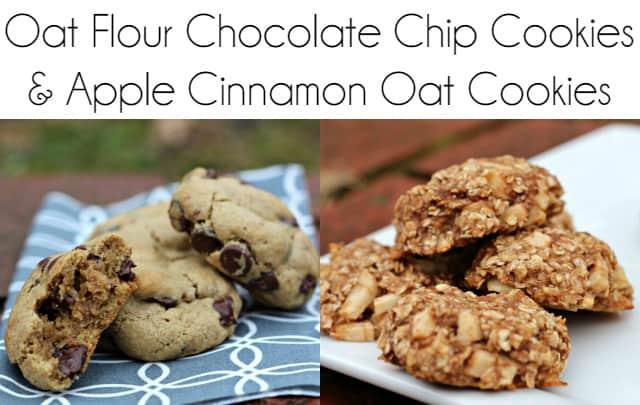 Oat Flour Chocolate Chip Cookies & Apple Cinnamon Oat Cookies