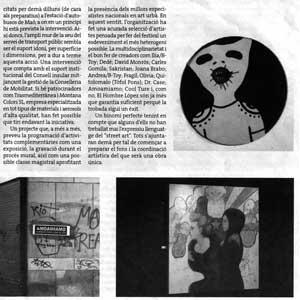 «Mur-Murs, l'art més urbà trepitja Maó»