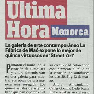 «La galería de arte contemporáneo La Fábrica de Maó expone lo mejor de quince virtuosos en Street Art»