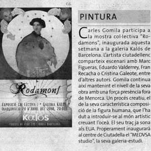 «Press release — Rodamóns, Kalós Gallery»
