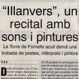 «Illanvers, un recital amb sons i pintures»
