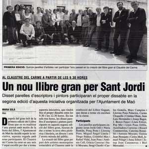 «Un nou llibre gran per Sant Jordi»