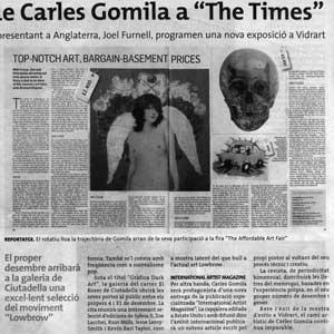 «L'obra de Carles Gomila a 'The Times'»