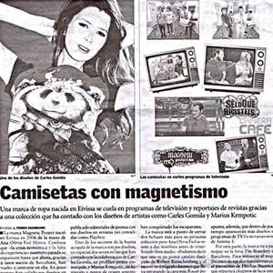 «Camisetas con magnetismo»