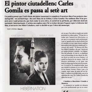 «El pintor ciutadellenc Carles Gomila es passa al setè art»