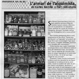 «L'armari de l'alquimista de Carles Gomila —o l'art com abans»