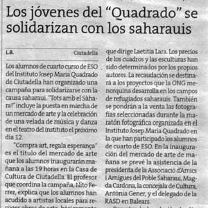 «Los jóvenes del 'Quadrado' se solidarizan con los saharauis»