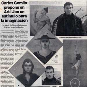 «Carles Gomila propone en Art i Joc un estímulo para la imaginación»