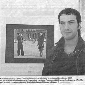 «Antonio Salord y Carles Gomila obtienen los primeros premios del Fotobosco 2007»