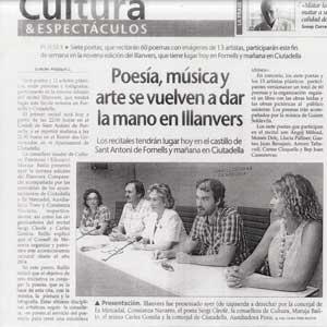 «Poesía, música y arte se vuelven a dar la mano en Illanvers»