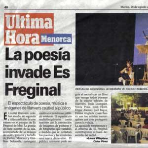 «La poesía invade Es Freginal»
