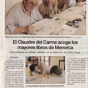 «El Claustre del Carme acoge los mayores libros de Menorca»