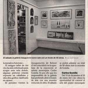 «'Rebost d'Art', la nueva exposición permanente de la galeria Art i Joc»