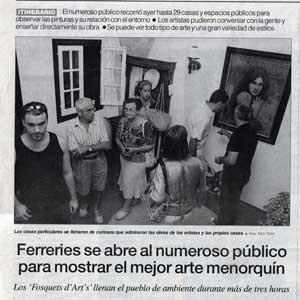 «Ferreries se abre al numeroso público para mostrar el mejor arte menorquín»