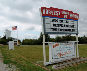 Harvest Moon Drive-In marquee
