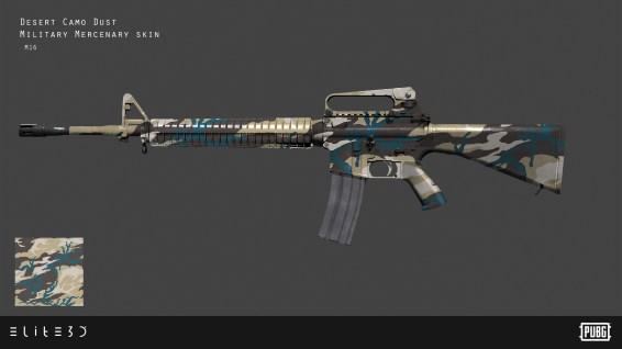 PUBG_Weapon-Skins-Military-Mercenary_M16_Final