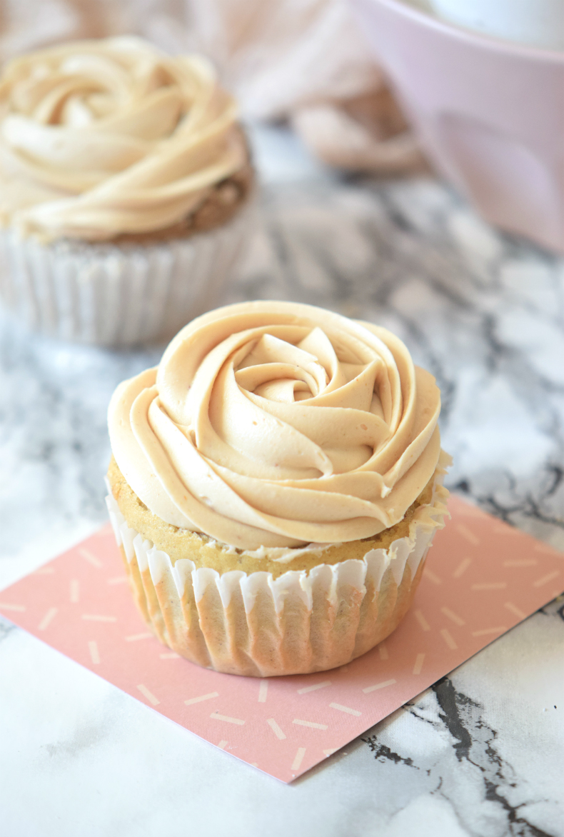 to make peanut butter cupcakes. Vanilla cupcake with peanut butter ...