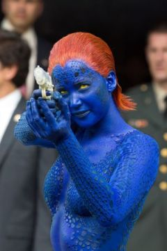 Shape-shifting mutant Mystique, played by Jennifer Lawrence.