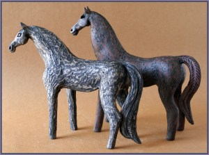 Carol Hayward Fell Ceramic Horses