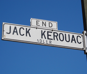 jack kerouac road sign
