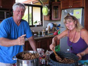 Don and Carole stirring the pots!