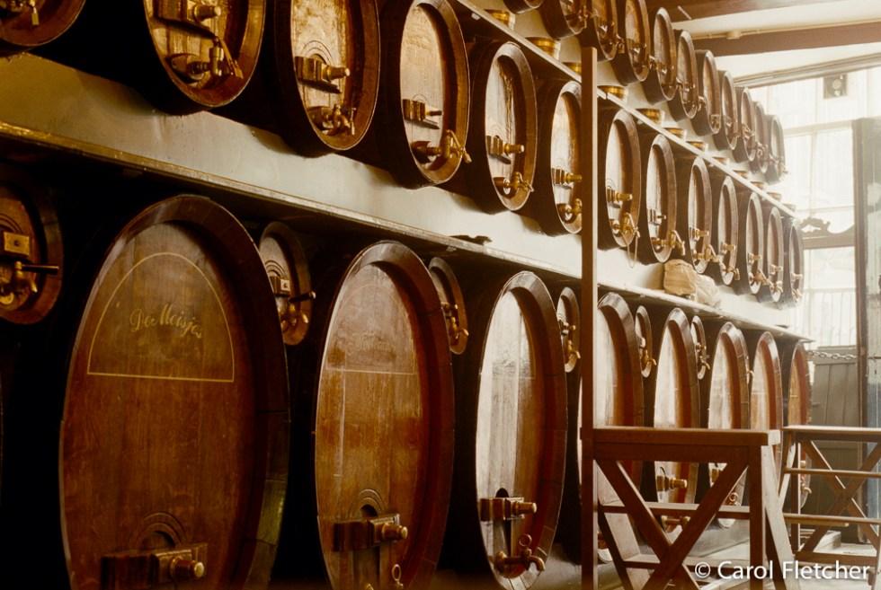 Jenever barrels in Bruges, Belgium