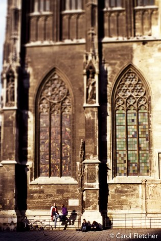 Vienna church courtyard