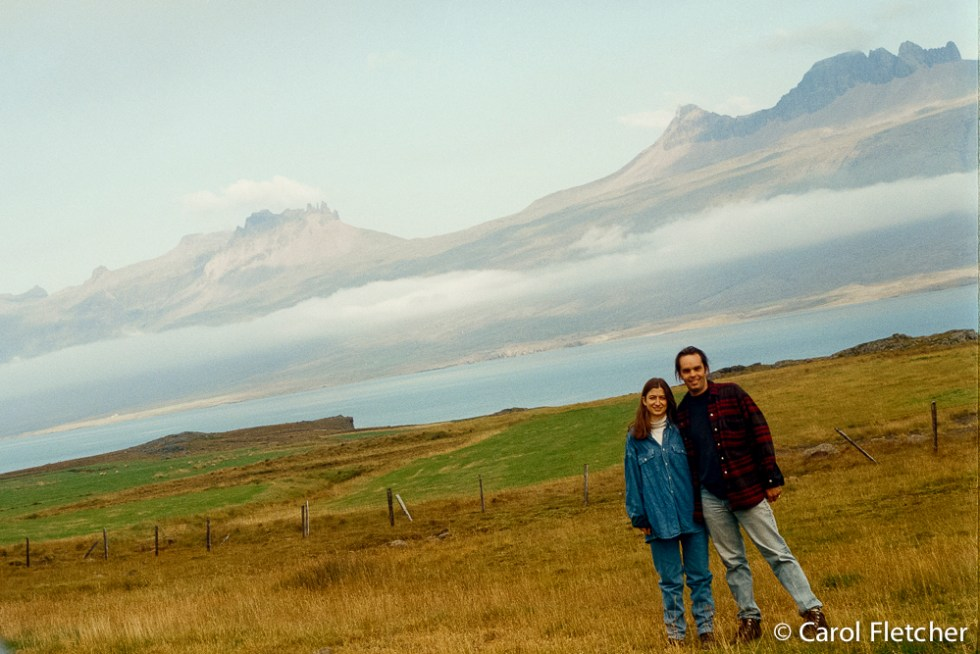 Carol & Bryan on the road in Iceland