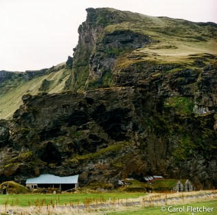 Mountain on a barn roof, Iceland
