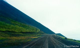 Roads in Iceland - Yellow Road Repaired