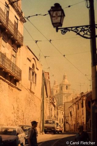 Faded film Lisbon streets