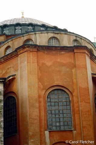 Aya Sofya's outside walls