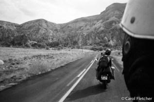 On a moped thru Cappadocia