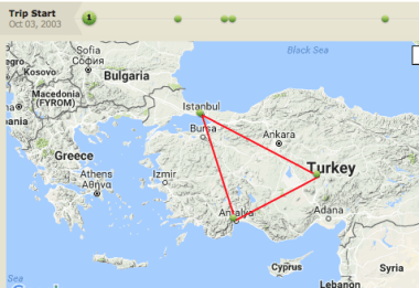 Our route in Turkey
