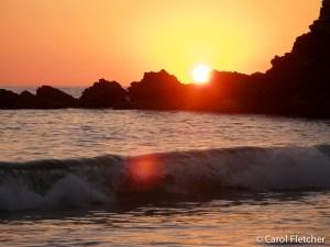 Sunset at Ixtapa Beach