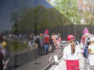 The Vietnam Veterans Memorial, at the height