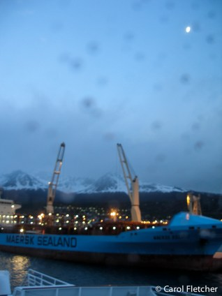 Moon over Ushuaia