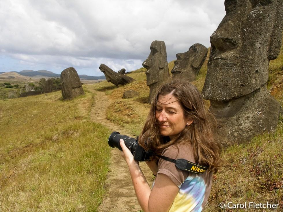 Carol on Easter Island