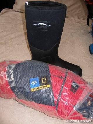 2 parkas + a muck boot