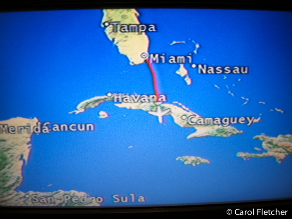 Flying over Cuba. Saw the small town lights from the plane. Will this be the closest we ever get?