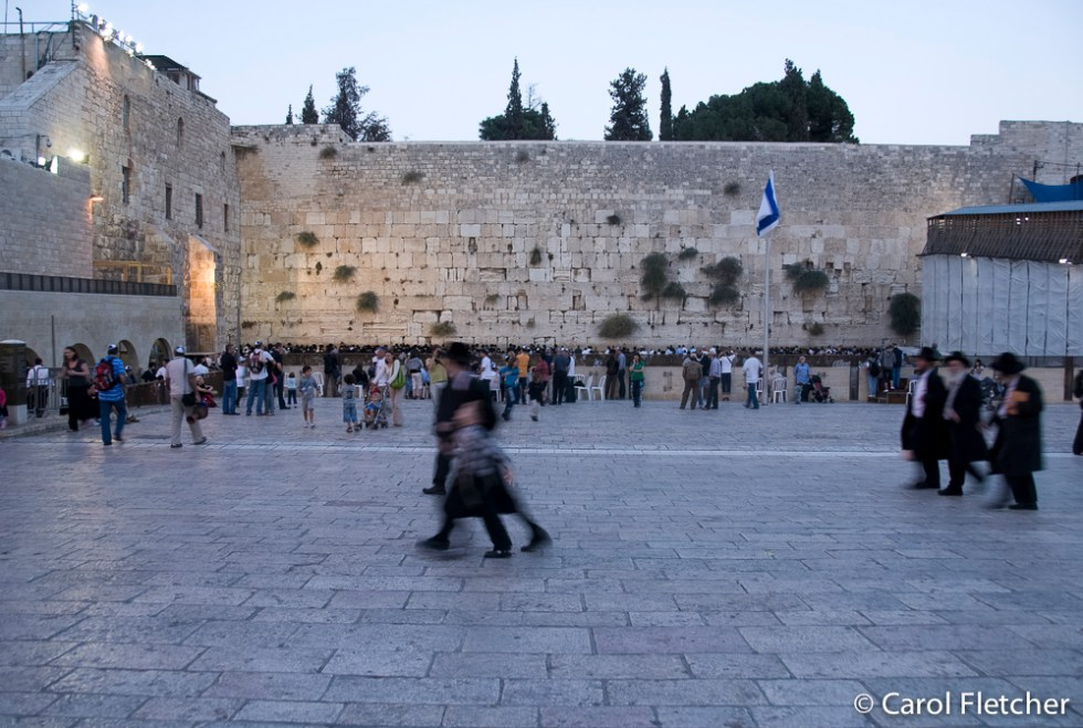 Twilight at the Western Wall