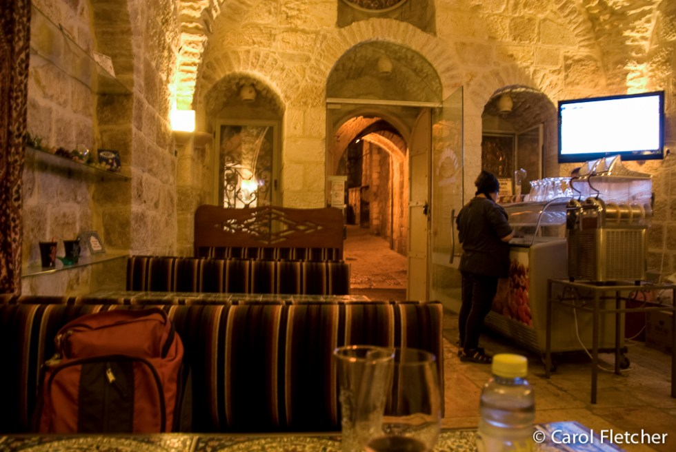 "Inside our ""local""...the only bar we found in old Jerusalem"