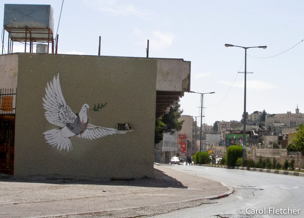 Bethlehem graffiti - dove of contradictions