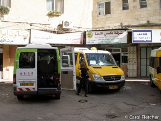 Shared taxi: Jerusalem to the Jordan border